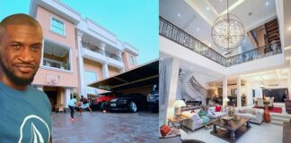 Peter Okoye shows off his mansion