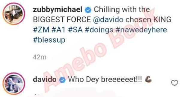 Zubby Michael And Davido Hang Out (2) Amebo Book